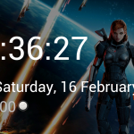 Screenshot in 'Dock Clock' mode.