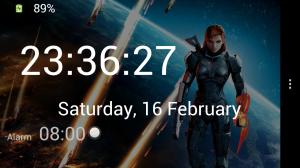 Screenshot in 'Dock Clock' mode.